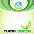 Think Green Background Stock Photography