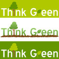 Think Green Concept Banner Stock Images