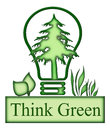 Think Green Concept Icon Royalty Free Stock Photo