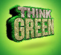 Think green d render on background Royalty Free Stock Photo