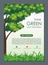 Go Green, Save Nature Flyer, Banner or Pamphlet
