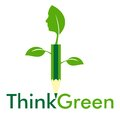 Think green innovation with leaf and human face in pencil Royalty Free Stock Photos