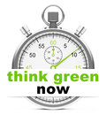 Think green now Royalty Free Stock Photo