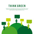 Think green over white background illustration Royalty Free Stock Photos