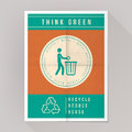 Think green poster Royalty Free Stock Photo