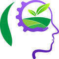 Think green save nature a vector drawing represents design Royalty Free Stock Images
