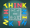 Think out of box Royalty Free Stock Photography