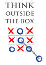 Think out of the box Royalty Free Stock Photo