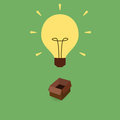 Think out of box concept illustration light bulb depicting a Royalty Free Stock Photos