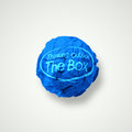Think outside the box as concept Royalty Free Stock Image