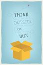 Think outside the box concept flat design modern vector illustration of motivation and positive thinking and creative mindset with Royalty Free Stock Photos