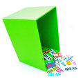 Think outside the box ideas spill from an open representing creative thinking Stock Image