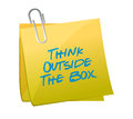 Think outside the box message written on a post illustration design Royalty Free Stock Photo