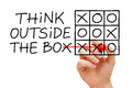 Think Outside The Box Tic Tac Toe Concept Royalty Free Stock Photo