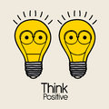 Think positive over pink background illustration Royalty Free Stock Photos