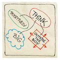Think positively, big, creative Royalty Free Stock Image