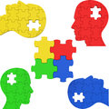 Think puzzle indicates team work and consideration teamwork meaning about it organized teams Stock Photo