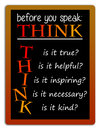 Think and speak Royalty Free Stock Photo