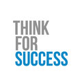 think for success text sign concept