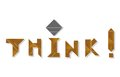Think word made from tangram an old chinese game Stock Photography