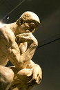 The thinker sculpture by rodin at montreal musée des beaux arts Stock Photography