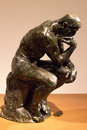 The thinker sculpture by rodin at montreal musée des beaux arts Stock Photo