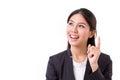 Thinking businesswoman executive with good idea Royalty Free Stock Photo