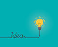Thinking idea lightbulb shape for text `IDEA`, Inspiration concept, Flat style illustration.