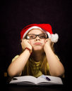 Thinking at a Letter to santa Stock Photos