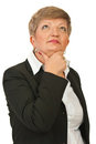 Thinking mature business woman Stock Photography