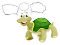A thinking turtle illustration of on white background Stock Photo