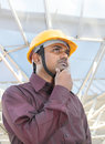 Thinking young Indian Architect Royalty Free Stock Photography