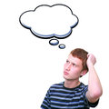 Thinking young man Royalty Free Stock Photo
