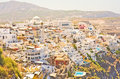 Thira the capital of Santorini, Greece. Royalty Free Stock Photos
