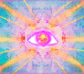 Third eye mystical sign illustration of a Royalty Free Stock Images