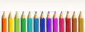 Thirteen colorful pencils Royalty Free Stock Photo