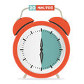 Thirty minutes stop watch alarm clock vector illustration Royalty Free Stock Photo