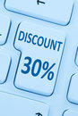 30% thirty percent discount button coupon sale online shopping i Royalty Free Stock Photo