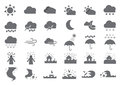 Thirty weather solid icons