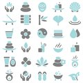 Thirty Wellness Icons Blue And Gray