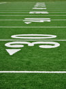 Thirty Yard Line on American Football Field Royalty Free Stock Photo