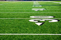 Thirty Yard Line at Football field Royalty Free Stock Photo