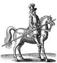 Thirty years war rider with armor and lance Royalty Free Stock Photo
