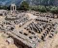 Tholos at delphi greece the ruins of the in archaeological site Stock Photos
