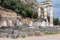 Tholos at delphi greece the ruins of the in archaeological site Stock Photo