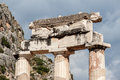 Tholos at delphi greece the ruins of the in archaeological site Royalty Free Stock Photography