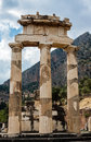 Tholos at delphi greece the ruins of the in archaeological site Royalty Free Stock Images