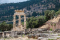 Tholos at delphi greece the ruins of the in archaeological site Stock Photography