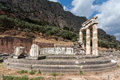 Tholos at delphi greece the ruins of the in archaeological site Stock Image