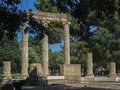 Tholos olympia the circular temple with its ionic columns in peloponnese greece Royalty Free Stock Image